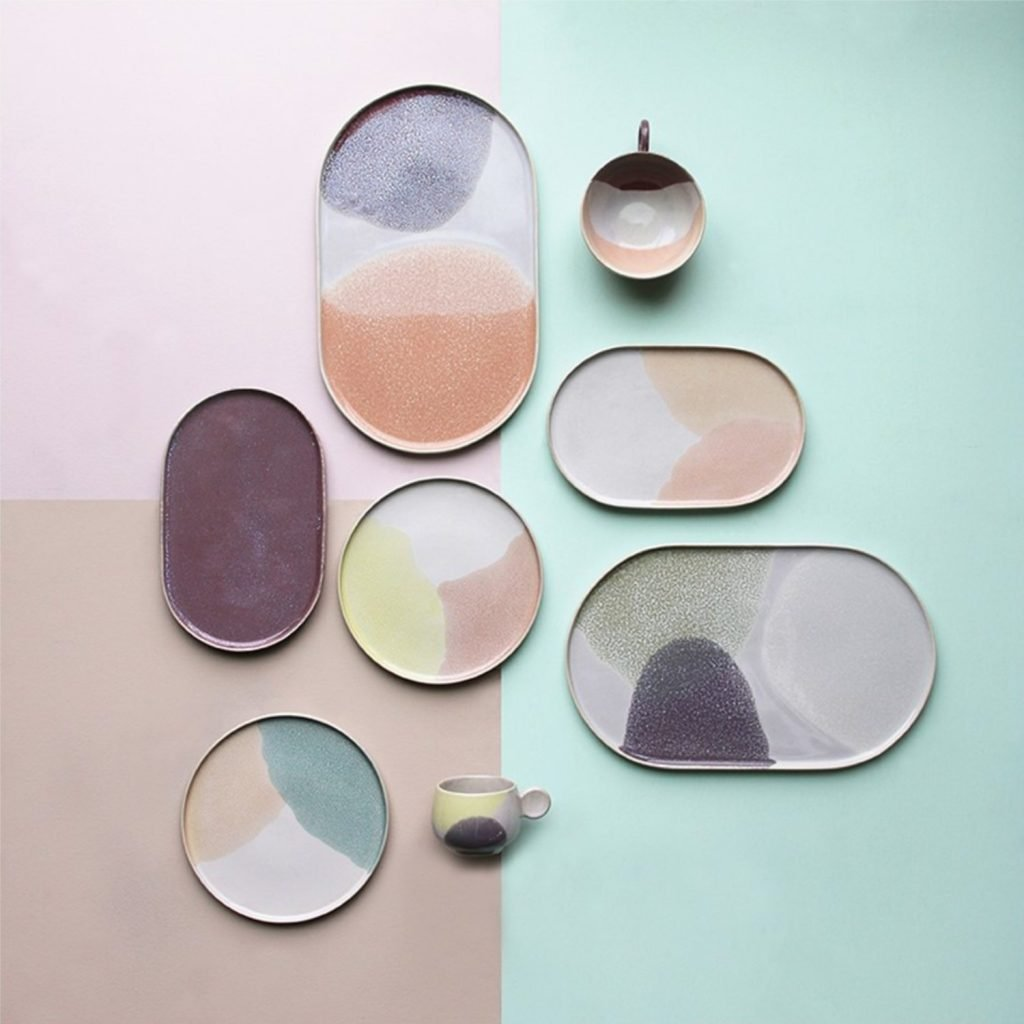 scandinavian feeling interior trend colourful oval plate